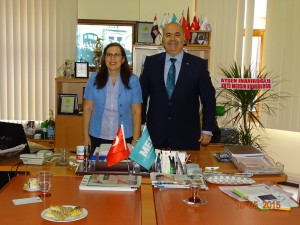 Mersin Ekonomi Platformu (MEP) Başkanı Ferudun Gündüz'e nezaket ziyaretinde bulunuldu (21 Ekim 2015)