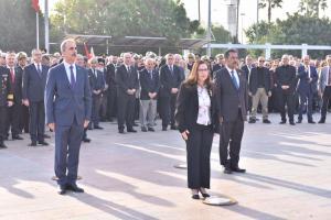 Ulu Önder Mustafa Kemal Atatürk, ebediyete intikalinin 79. yıl dönümünde Mersin Valiliği tarafından düzenlenen törenle anıldı
