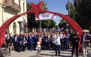 1. Mersin Uluslararası Engelsiz Sanat Festivali Kortej Yürüyüşüyle başladı