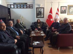 Türkiye Muharip Gaziler Derneği Mersin Şubesi Başkonsolos İnanıroğlu'na ziyarette bulundu